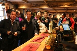 The Bartlett course delegates in the same pub previously visited by Chinese President Xi Jinping