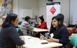 UCL India Voices academic speed dating event, January 2017