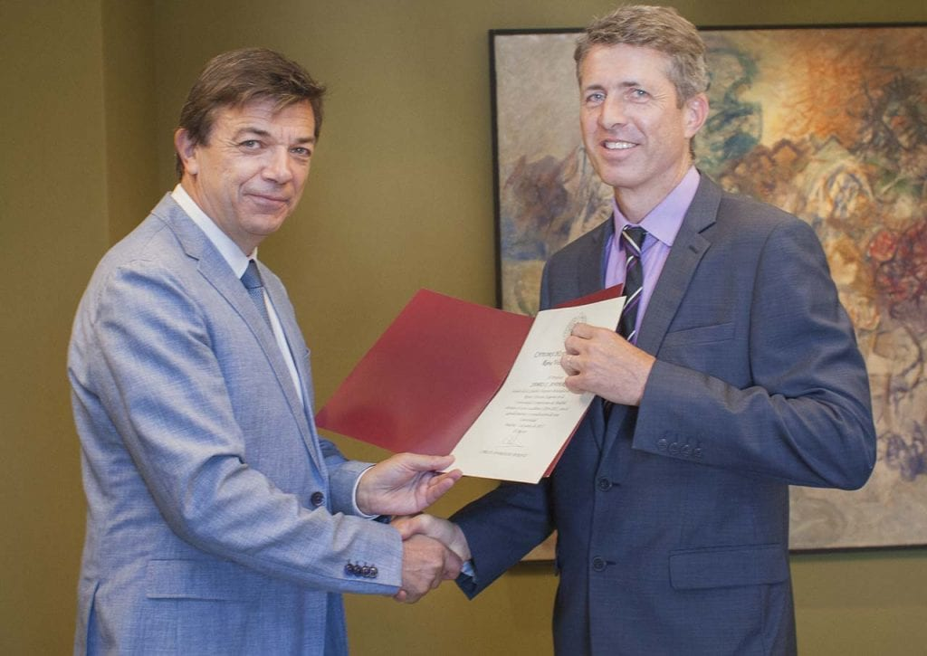 UCL Professor Jim Anderson (right) has been appointed Chair of the British Hispanic Foundation at UCM