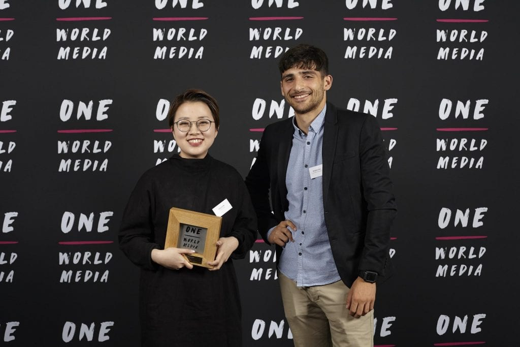 UCL graduate Minmin Wu won the Student Award at the One World Media Awards for her graduation film 'Waste'
