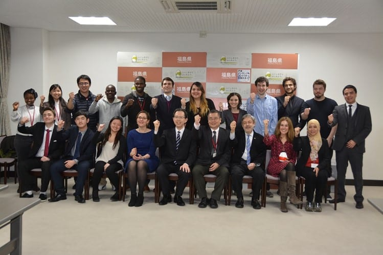 Delegates at the 2016 UCL visit to Fukushima Prefecture