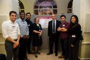 Student founders of Beba with UCL provost