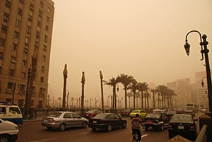 Traffic and air pollution in Cairo, Egypt. Photo©Kim Eun Yeul World Bank
