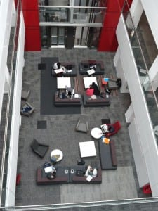Aerial view of study area