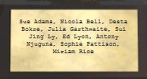 trophy names