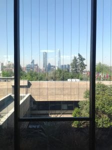 View from the UN Building, Santiago, Chile
