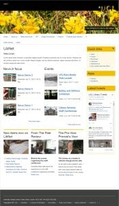 Home page, yellow