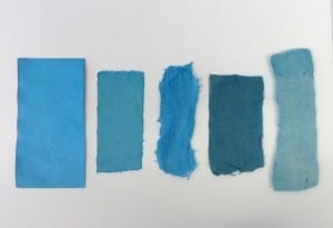 Blue Swatches from Dye Workshop