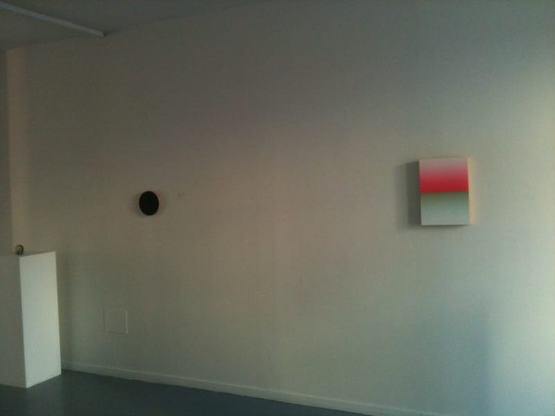 """FAFA Gallery, Helsinki, """"Colour as Material"""", 2013. Installation view: Jo Volley and Estelle Thompson"""