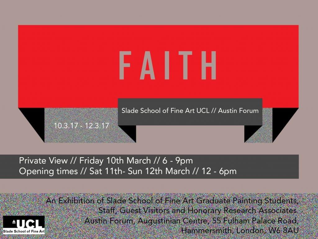 Faith exhibition invitation (front)