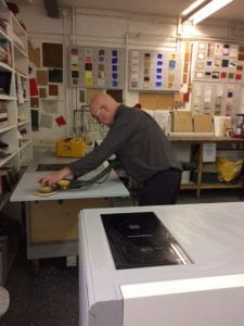 Gary Woodley in Methods Room, Slade School of Fine Art
