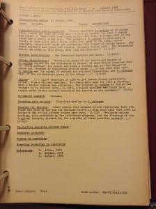 Cuvier's hutia RDB vol 1 sheet