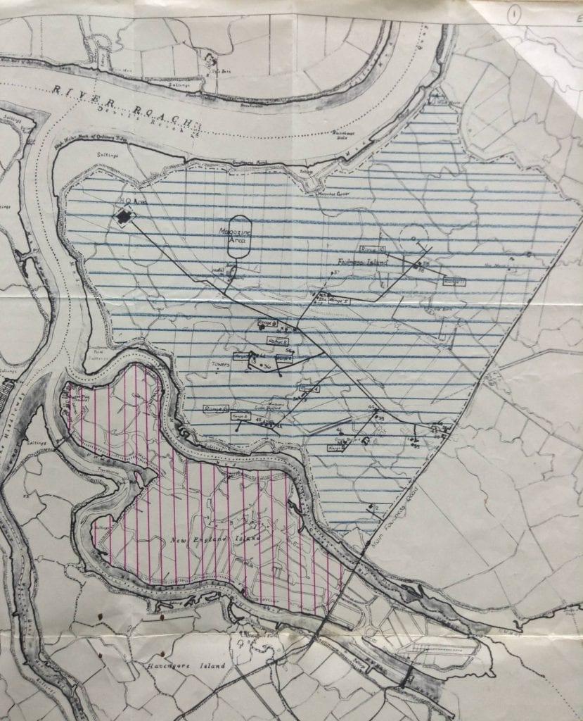 Foulness AWRE map