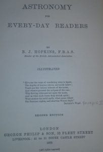 Astonomy for Every-Day Readers by B.J. Hopkins FRAS