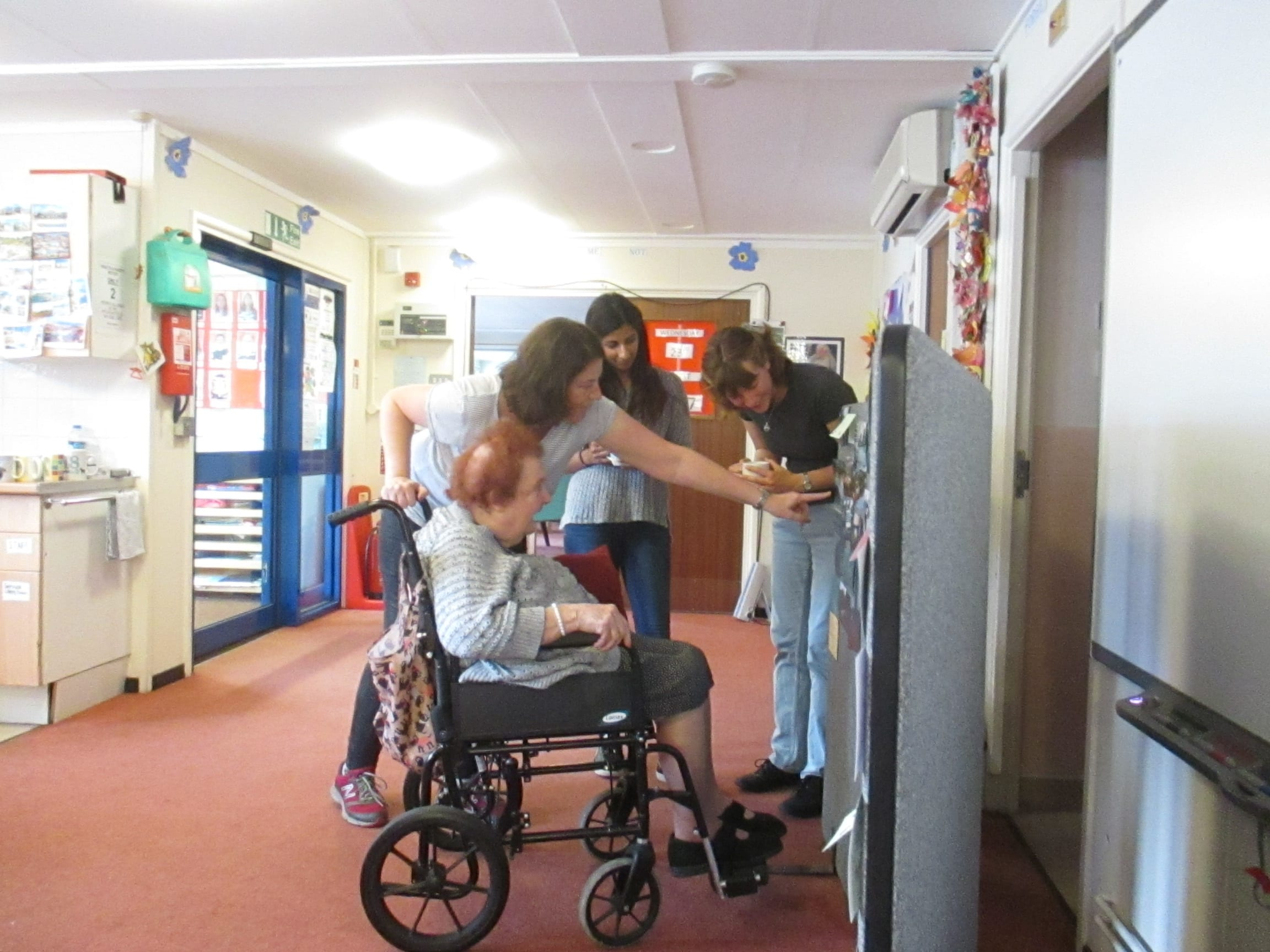 Rachael and Pushpa's project took place at the day centre's where the older people were already present