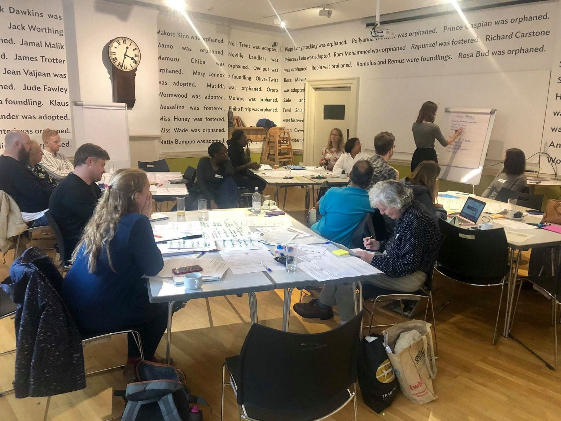 Co-creators sharing stories and experiences as part of our evaluation co-creation last week