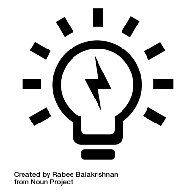 Light Bulb by Rabee Balakrishnan from the Noun Project