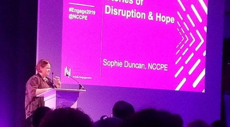 Sophie Duncan, National Coordinating Centre for Public Engagement. Photo by Ben Littlefield