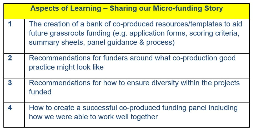 Aspects if Learning - Sharing our Micro-funding Story