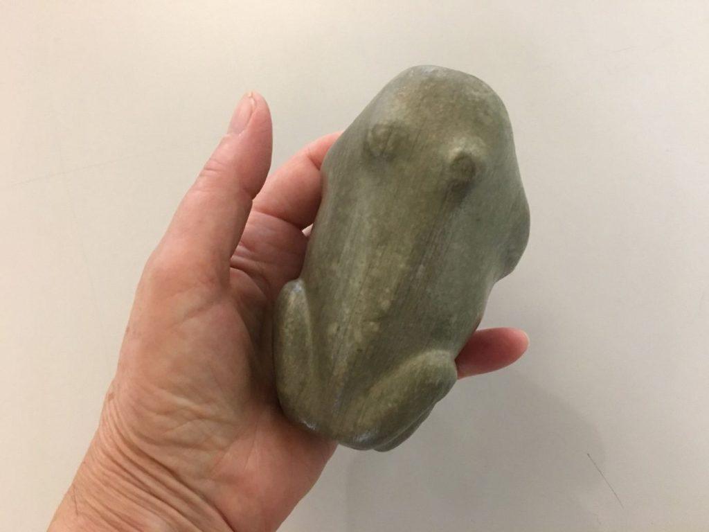 3D printed frog artefact