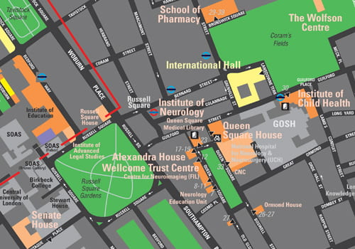 Maps of UCL campus