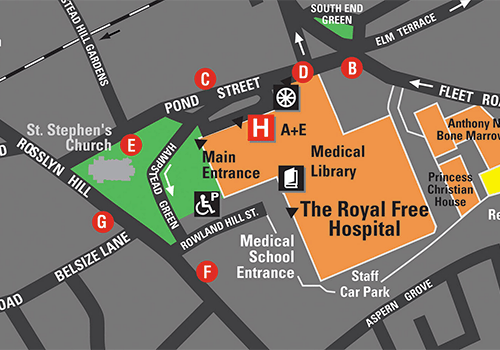 Map of Hampstead campus