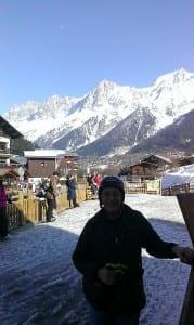 Benny Chain skiing