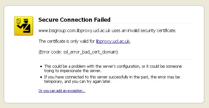 Security certificate errors | UCL Electronic Resources Blog