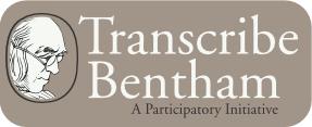 Transcribe Bentham header banner