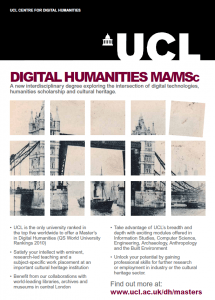 Poster for the MA in Digital Humanites at UCL