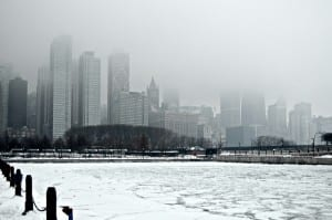 frozen lake_foggy chicago