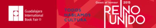 Banner for the International Book Fair (FIL) Guadalajara