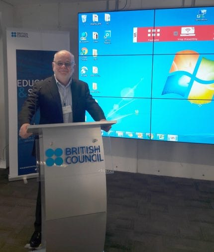 Presenting at the British Council event