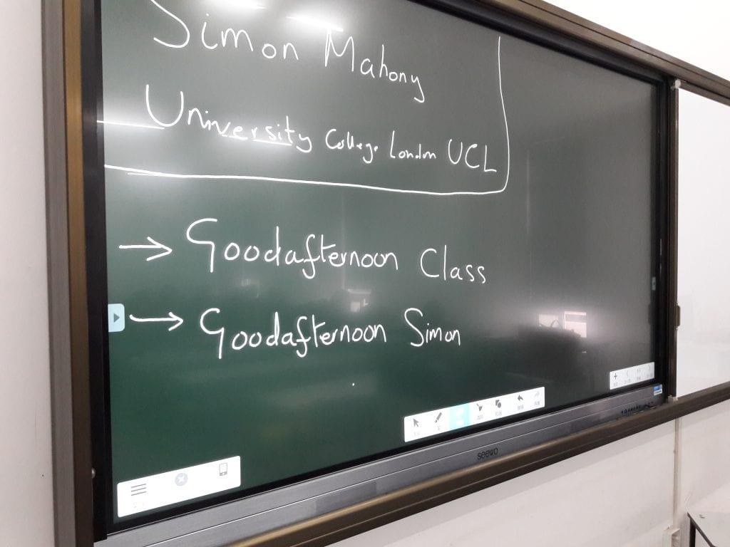 Simon's class at Shanghai Institute of Design