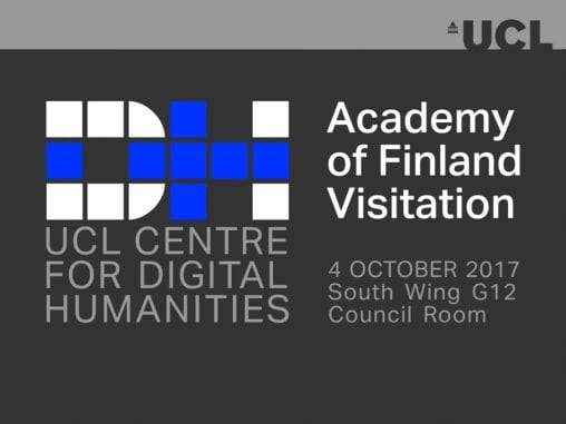 UCLDH Academy of Finland Banner