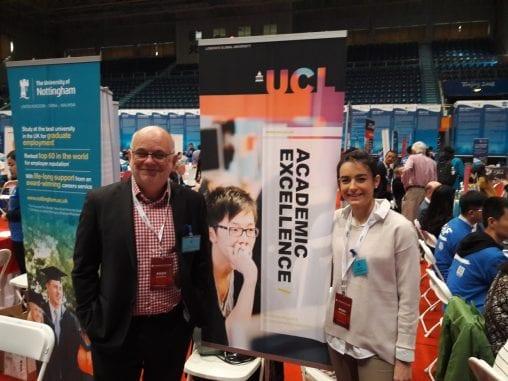UCL representatives at the Graduate Fair