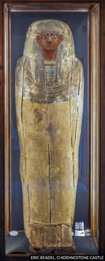 Chiddingstone Castle ancient Egyptian coffin lid, probably 25th Dynasty.