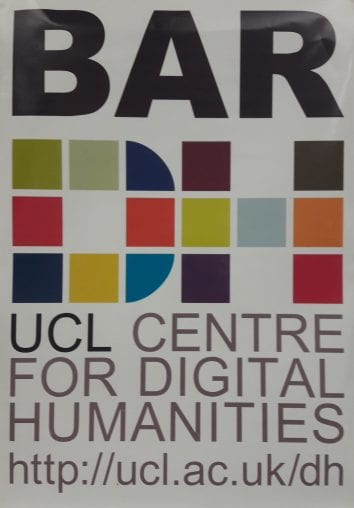 UCLDH 'bar' poster