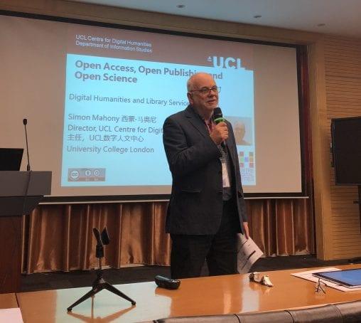 Simon presenting at SILF 2018