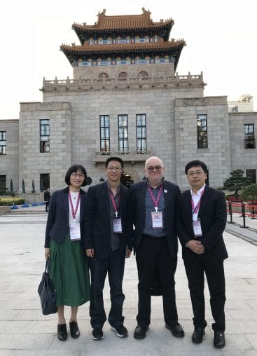 Simon with friends from SHL and PKU at Yangpu Library