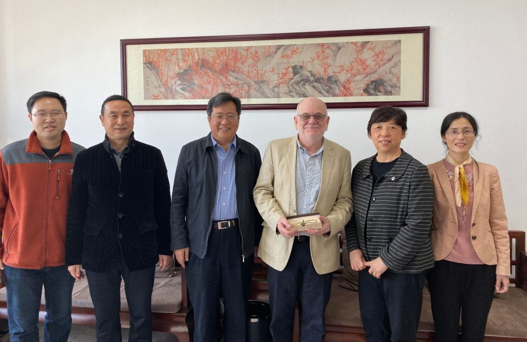Meeting with the Dean of the Department of Publishing and the President of Beijing Normal Zhuhai campus