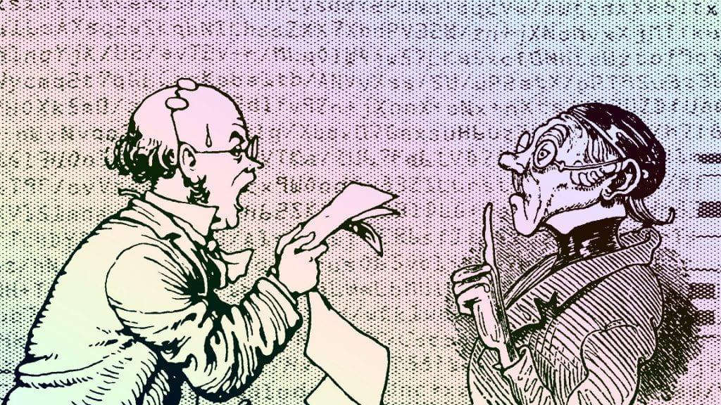 Book cover remix: Professor Branestawm and Lehrer Lämpel