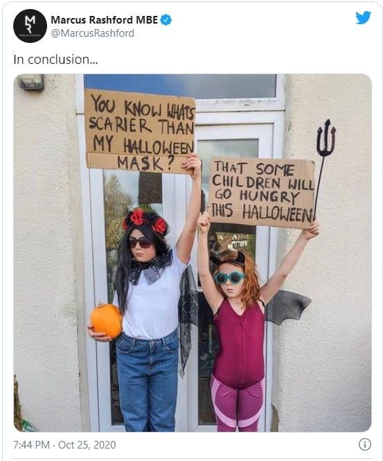 @MarcusRashford-Halloween-Tweet