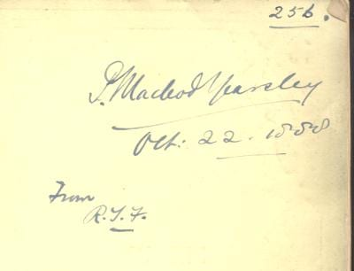 Percival McLeod Yearsley's signature in a copy of his cousin's The Artificial Tympanum