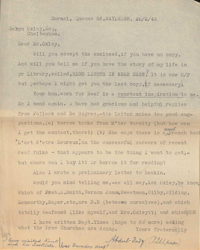 Upson letter