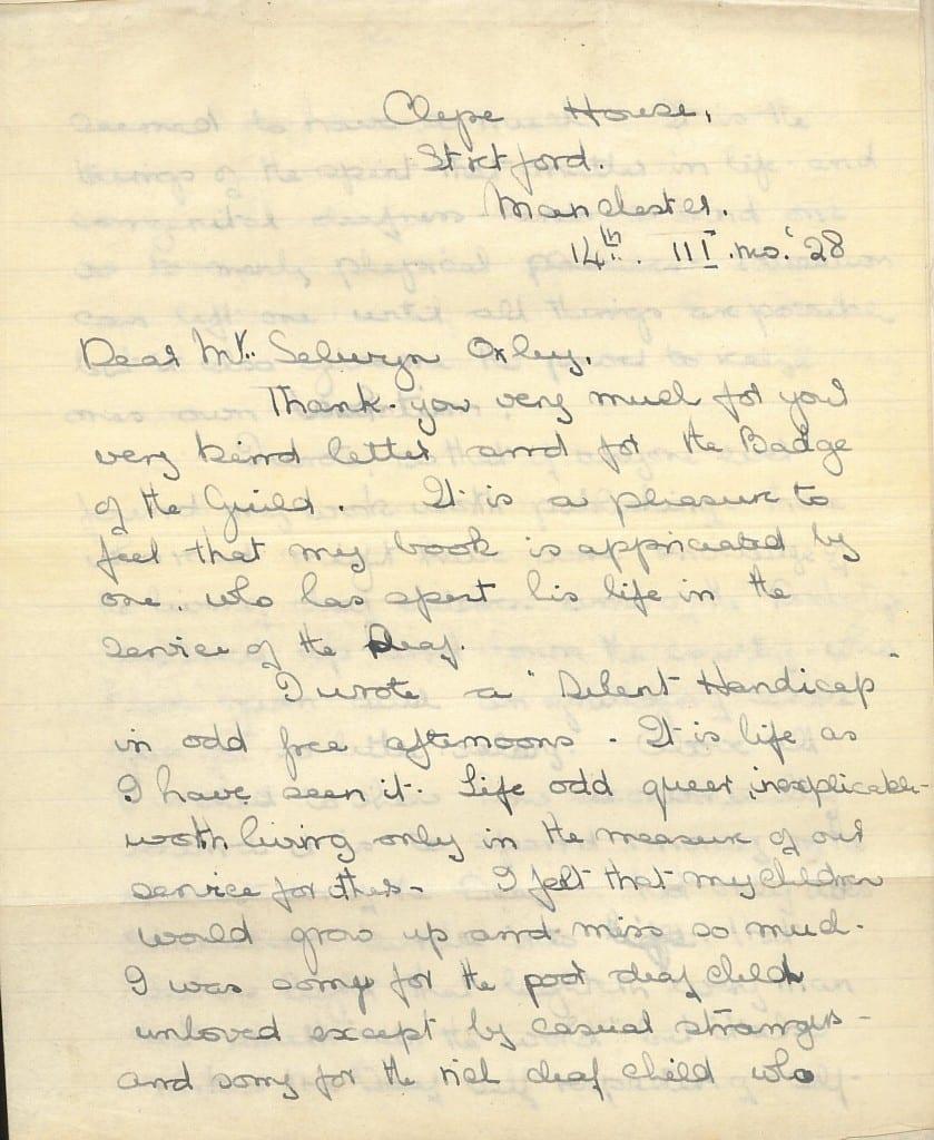 Croft letter 1