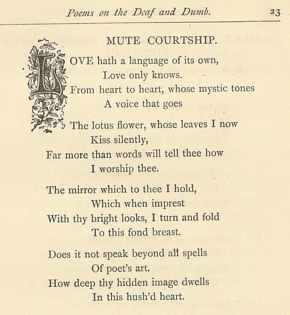 Mute courtship