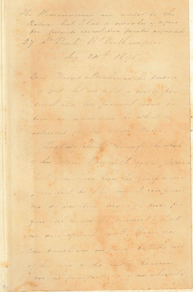 Arnold letter 1