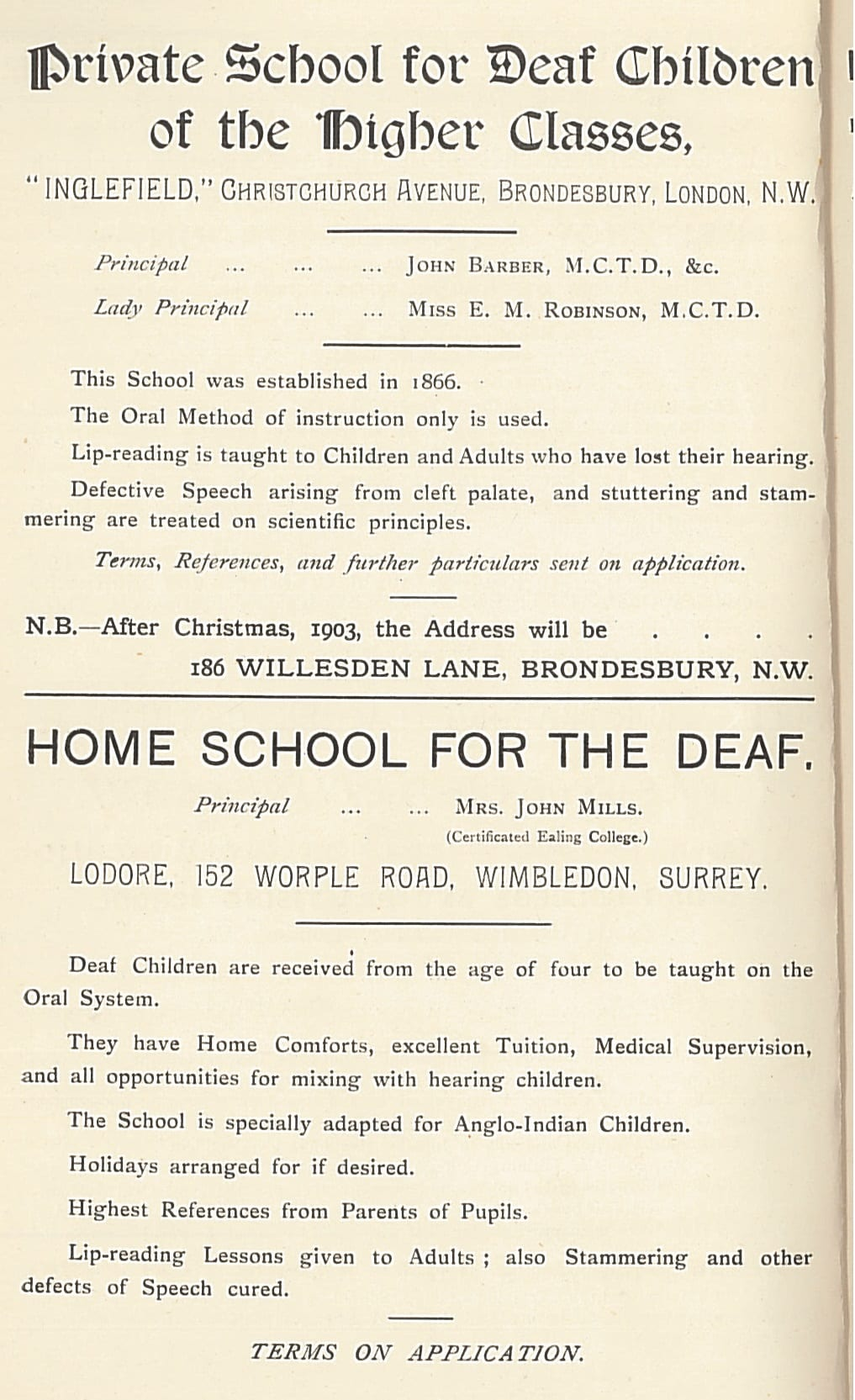 Private school adverts | UCL UCL Ear Institute & Action on Hearing