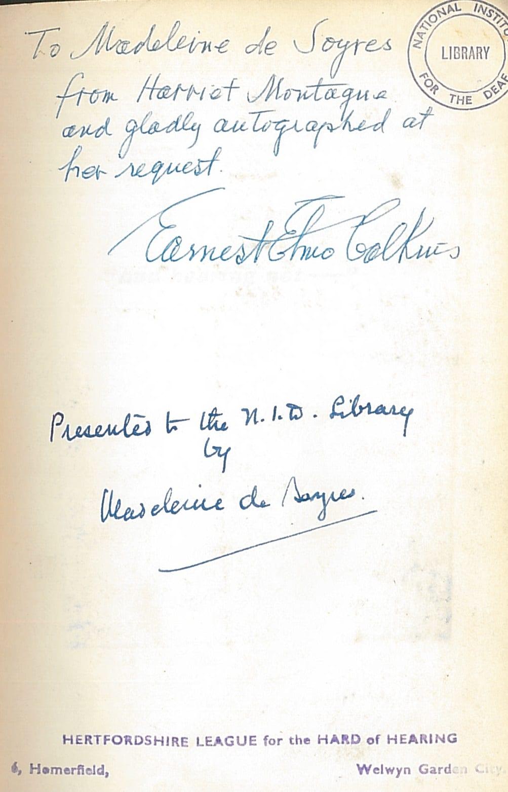 Calkins signature